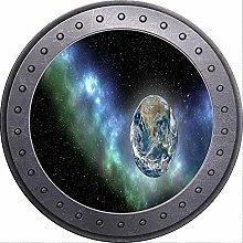 3D ojo de buey vista espacio estrellas Luna tierra