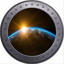3D ojo de buey vista espacio tierra sol naciente