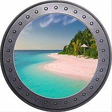 3D ojo de buey vista mar orilla playa océano