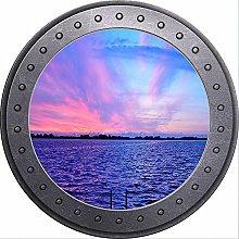 3D ojo de buey vista playa océano mar sol pared