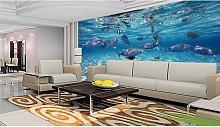 3D Sea World Etiqueta de la pared Arte Mural TV