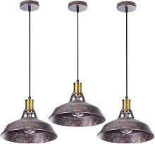 3pcs Lámpara Colgante Industrial Lámpara de