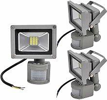 3X 20W SMD Foco LED con Sensor