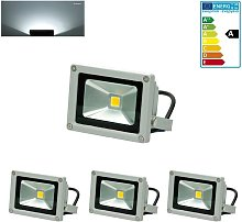 3x Foco proyector LED reflector pared exterior