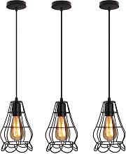 3x Lámpara de Forma de Florero Vintage Lámpara