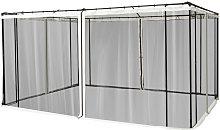 4 Paneles Laterales 352x207 cm para Carpa de