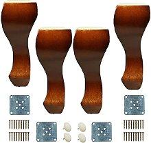 4 patas de sofá de madera, patas de repuesto de