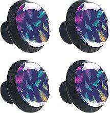(4 piezas) tiradores de cristal para cajones de
