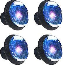 4 pomos de cristal de colores para armario,