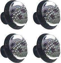 4 pomos de cristal para aparador – tiradores de