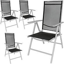 4 sillas de jardín de aluminio - mueble de