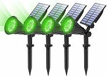 (4 Unidades )T-SUN Foco Solar, Impermeable Luces