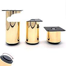4 Unids/lote Dia.50mm Muebles de oro rosa Pies