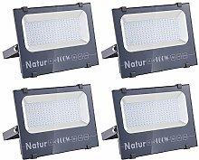 4 X 100W Natur LED Foco Exteriores 10000lm IP66