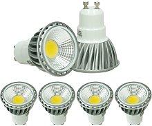 4 x LED 6W COB GU10 Spot - Equivale 40W Halógeno