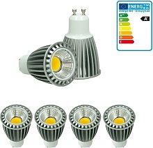 4 x LED Spot regulable 9W COB GU10 - Equivale 60W