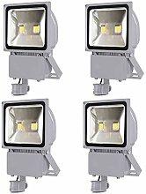 4X 100W Foco LED con Sensor Movimiento, Proyector