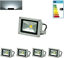 4x Foco proyector LED reflector pared exterior