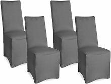 4x funda elástica para sillas - modelo Leona