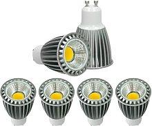 4x LED Spot 9W COB GU10 - Equivale 60W Halógeno -