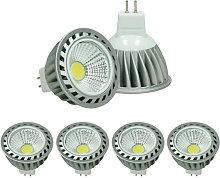4x LED Spot regulable 4W MR16 COB - Equivale 20W