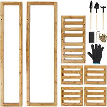 5 niveles de madera maceta planta soporte estante