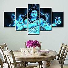 5 Piezas Cuadro sobre Lienzo De Fotos Dios hindú