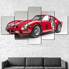 5 Piezas Cuadro sobre Lienzo De Fotos Ferrari 250