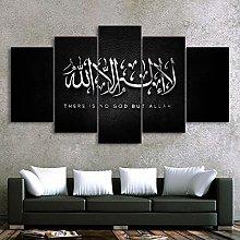 5 Piezas Cuadro sobre Lienzo De Fotos Islam Allah