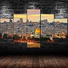 5 Piezas Cuadro sobre Lienzo De Fotos Jerusalén
