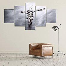 5 Piezas Cuadro sobre Lienzo De Fotos Jesús