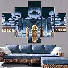 5 Piezas Cuadro sobre Lienzo De Fotos Sheikh Zayed