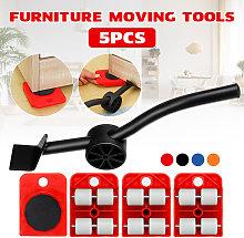 5 piezas mueve muebles herramienta palanca de