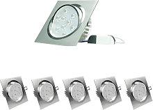 5 x 9W 220-240V 14 x 14 cm Foco empotrado de LED
