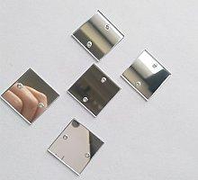 50 piezas de espejo cuadrado para coser, DIY con