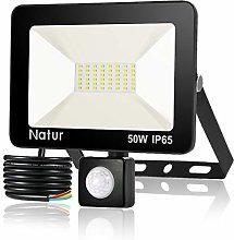 50W Foco LED con Sensor de Movimiento, Proyector