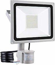 50W Foco LED con Sensor Movimiento, IP65