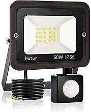 50W LED Foco Exterior con Sensor Movimiento, bapro