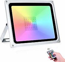 50W RGB Foco LED 16 Colores y 4 Modos IP65