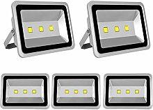 5X 150W Luz Foco Proyector LED Blanco Frio Foco