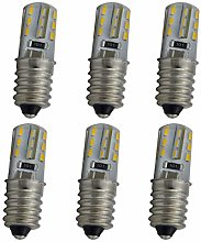 6 bombillas E14 de color blanco cálido para tu