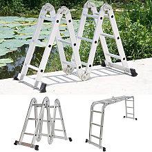 6 En 1 Escalera de aluminio multiusos Plegable