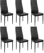 6 piezas silla de comedor negro