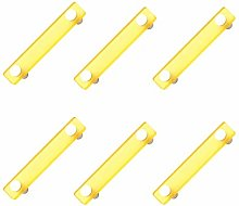 6 Un. TIRADOR Asa Mueble resina amarilla cromo