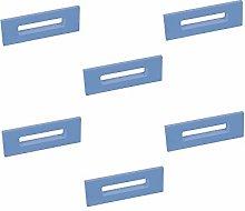 6 Un. TIRADOR Asa resina ABS PINTURA azul Mueble