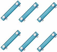 6 unidades tirador asa mueble resina azul cromo