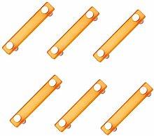 6 unidades tirador asa mueble resina naranja cromo