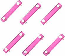 6 unidades tirador asa mueble resina rosa cromo
