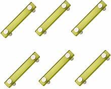 6 unidades tirador asa mueble resina verde cromo
