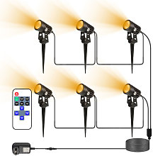 6PCS Foco LED para exteriores con control remoto